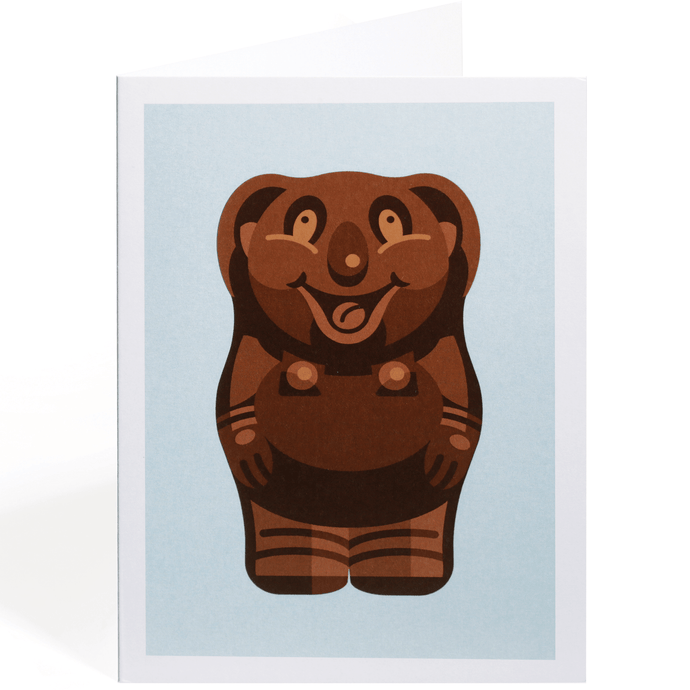 CARAMELLO BEAR GREETING CARD
