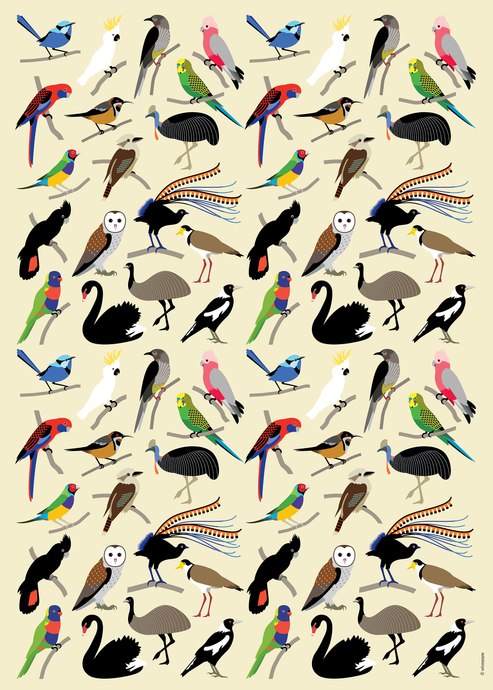 FLOCK OF FAVOURITES WRAPPING PAPER