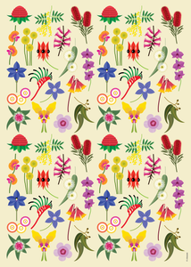 FANTASTIC FLORA WRAPPING PAPER
