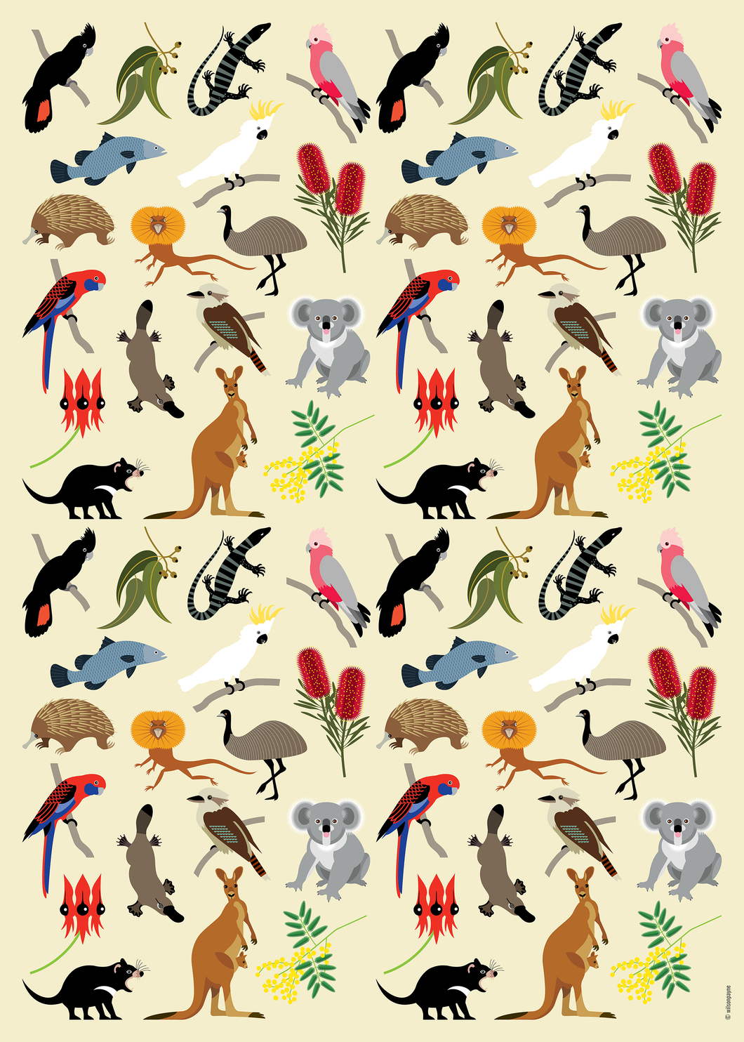 AUSSIE WILDLIFE WRAPPING PAPER