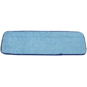 "18"" HD BLUE Microfiber wet mop pad, 12/case"