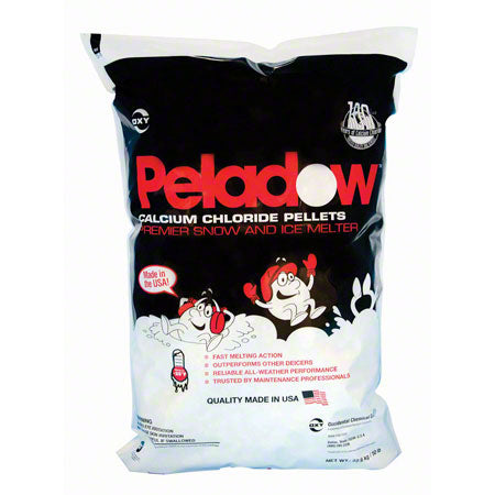 Peladow Calcium Chloride Pellets, 50 Lbs bag, (Melts to -41 degrees F) each