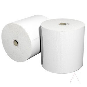 *** Solaris Paper 8'x800' White Lo Cor High Quality Virgin Pulp Hard Roll Towel 6/cs