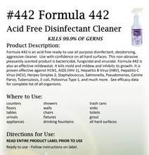 Load image into Gallery viewer, ARROW #442 – READY TO USE FORMULA ACID FREE DISINFECTANT BATH & KITCHEN CLEANER 32oz, 12/Case