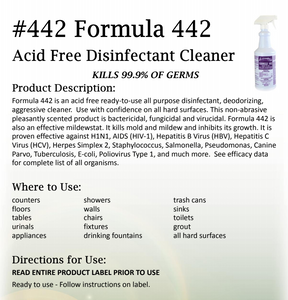 ARROW #442 – READY TO USE FORMULA ACID FREE DISINFECTANT BATH & KITCHEN CLEANER