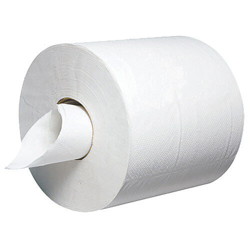 *** Empress Center Pull Paper Towel Rolls, 2-Ply, White, 6 Rolls per Carton