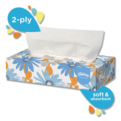 *** KCC03076 KIMBERLY CLARK  White Facial Tissue, 2-Ply, 125 Sheets/Box, 12 Boxes/Carton