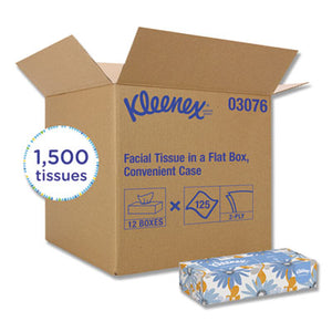 KIMBERLY CLARK  White Facial Tissue, 2-Ply, 125 Sheets/Box, 12 Boxes/Carton