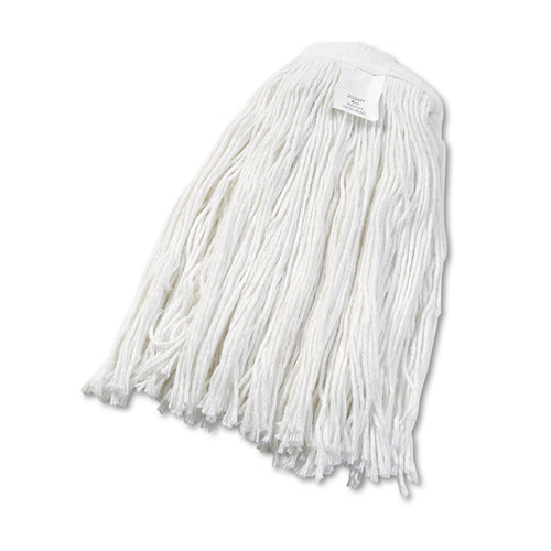 #24 Cut-End Wet Mop Head, Rayon, White