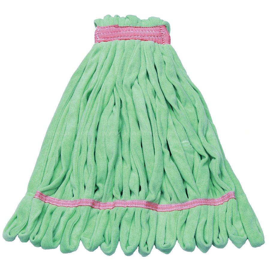 Green Large, ReLintless Microfiber Wet Mop, Narrow Ban