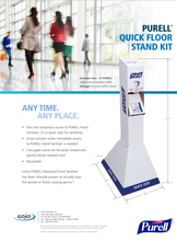 Load image into Gallery viewer, PURELL 2156-02-QFS HAND SANITIZER FLOOR STAND, Each stand comes with 2 -1L NXT Sanitizer refills.