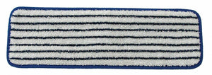 "18"" Blue/white stripe microfiber Finish Pad"