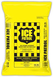 Ice Patrol Rock Salt, 50 Lbs bag