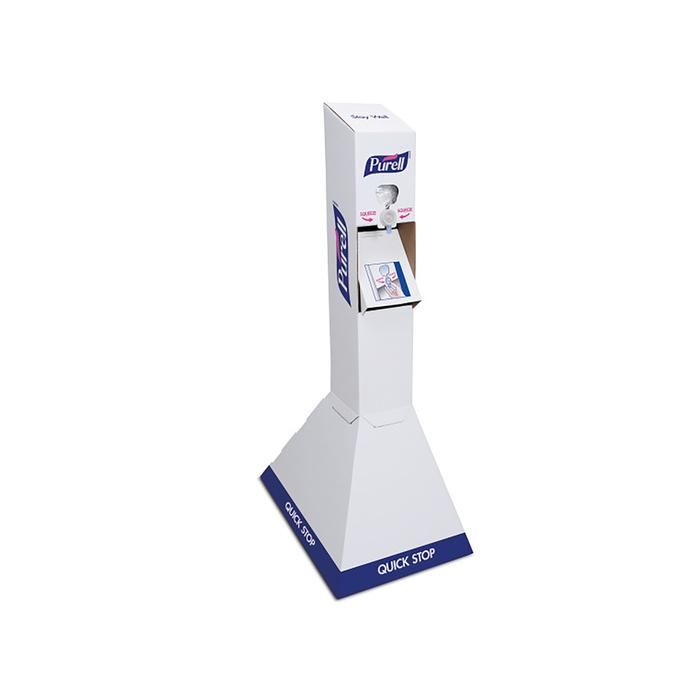 PURELL 2156-02-QFS HAND SANITIZER FLOOR STAND, Each stand comes with 2 -1L NXT Sanitizer refills.