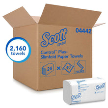 Load image into Gallery viewer, Scott SlimFold, Multifold white towels, 2160 shts/cs. Kleenex Slimfold Paper Towels, 24 - 90 Count Packs per Carton