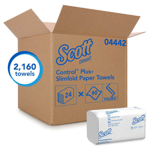 *** Scott SlimFold, Multifold white towels, 2160 shts/cs. Kleenex Slimfold Paper Towels, 24 - 90 Count Packs per Carton