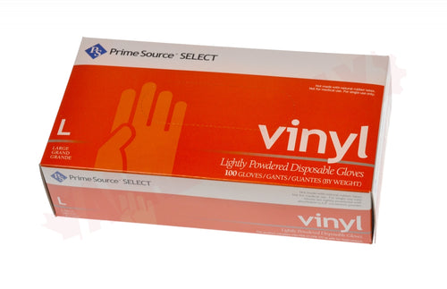 Prime Source Basic Large powder free Vinyl Gloves 10/100 case