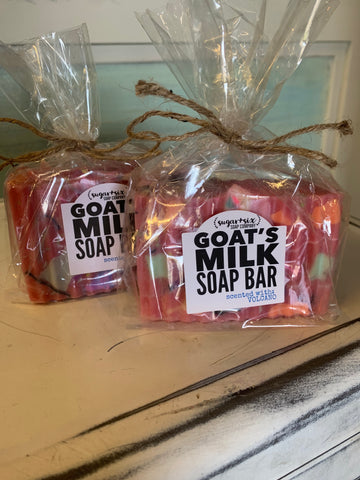 Hot Pink Volcano Goats Milk Soap Bar