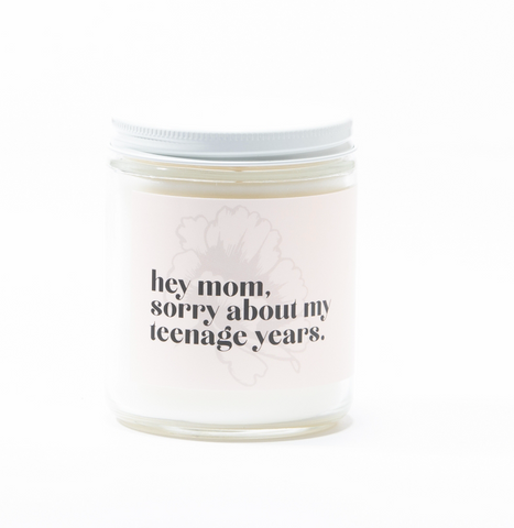 Hey Mom Soy Candle - Lavender Amber