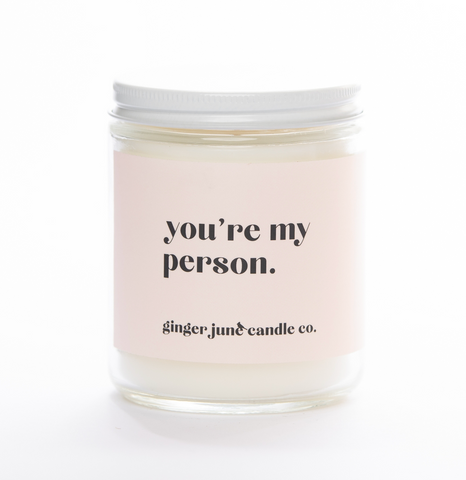 You're My Person Soy Candle - Coconut Vanilla