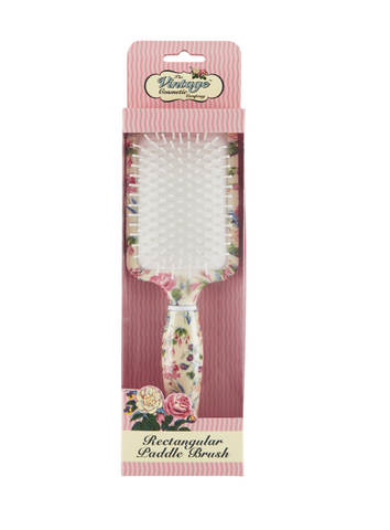 Floral Print Paddle Brush