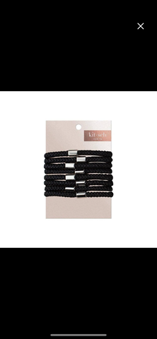 All Black Hair Ties