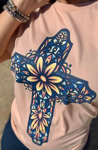 Stained Glass Cross Tee