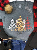 Plaid Christmas Tree Tee