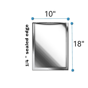 "10""x18"" CLEAR 9 LAYER VACUUM POUCH 3Mil"