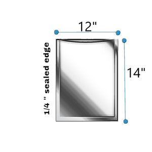 "12""x14"" CLEAR 9 LAYER VACUUM POUCH 3Mil"