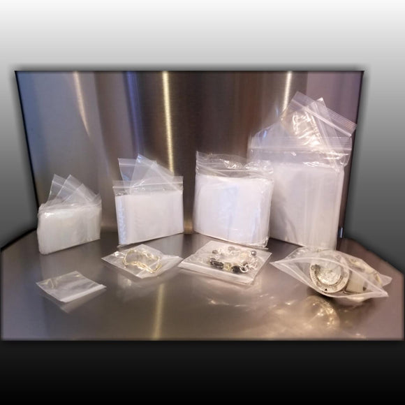 SMALL SAVVY CLEAR ZIPLOCK POLY BUNDLE
