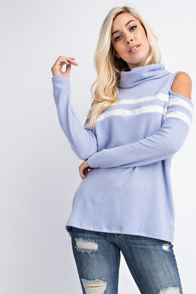 Sporty Cold Shoulder Trendy Top
