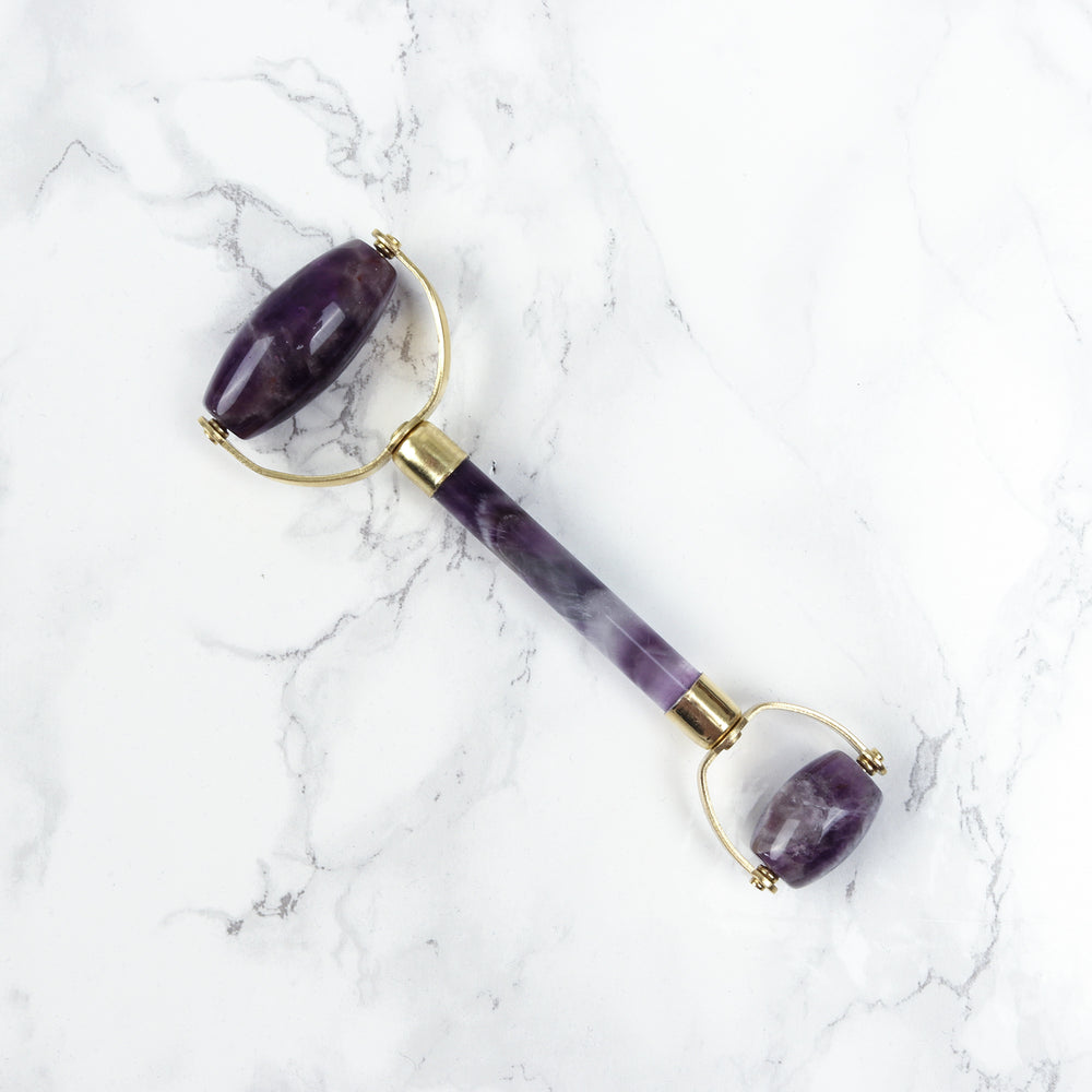 Double Headed Amethyst Roller - The Amethyst Face Roller