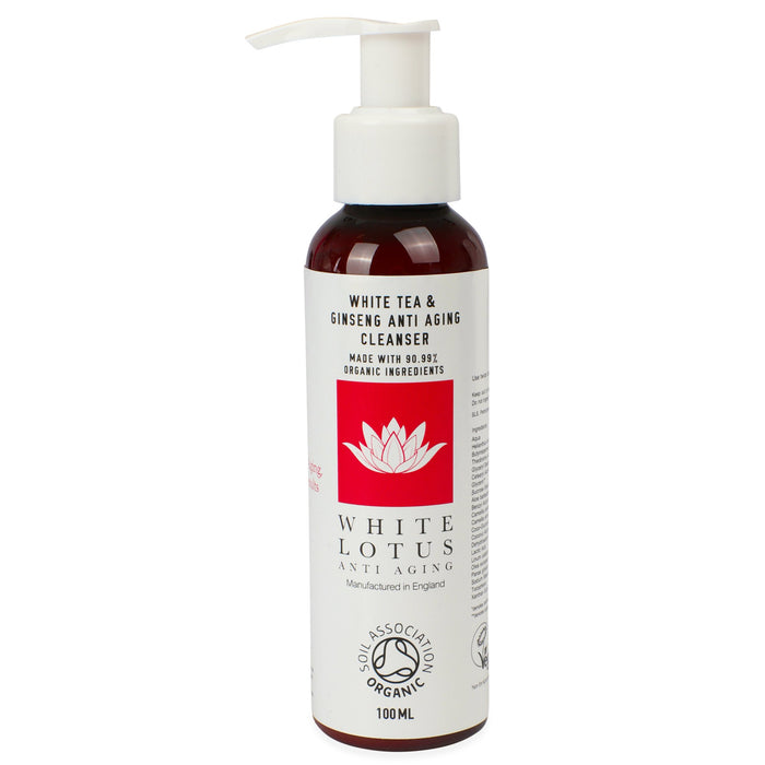Organic White Tea & Ginseng Facial Cleanser 100mL