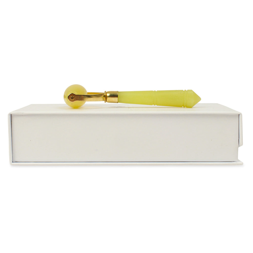 Natural Chemical Free Jade Crystal Roller in a silk lined Box -