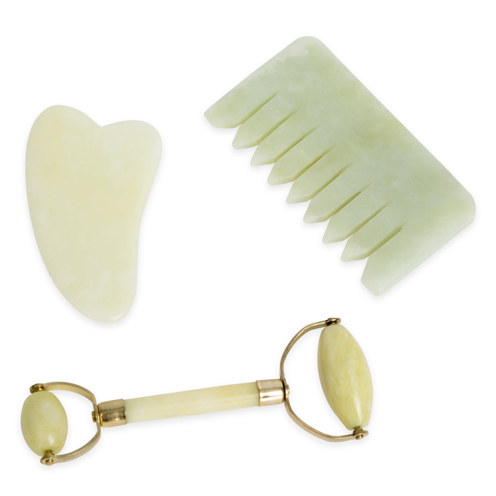 Jade Crystal Comb - Natural Chemical Free Crystal for Silky soft Hair