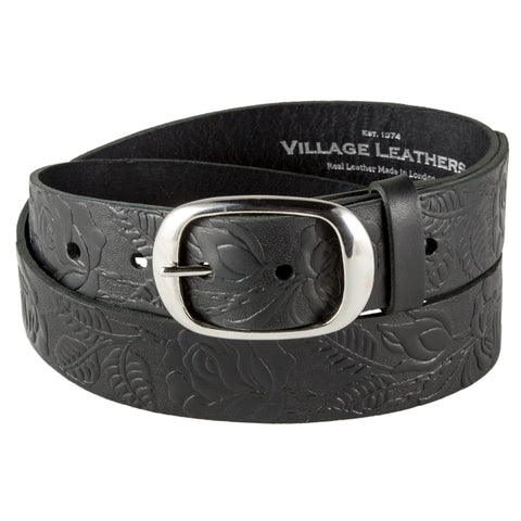Men's Embossed Leather Belts