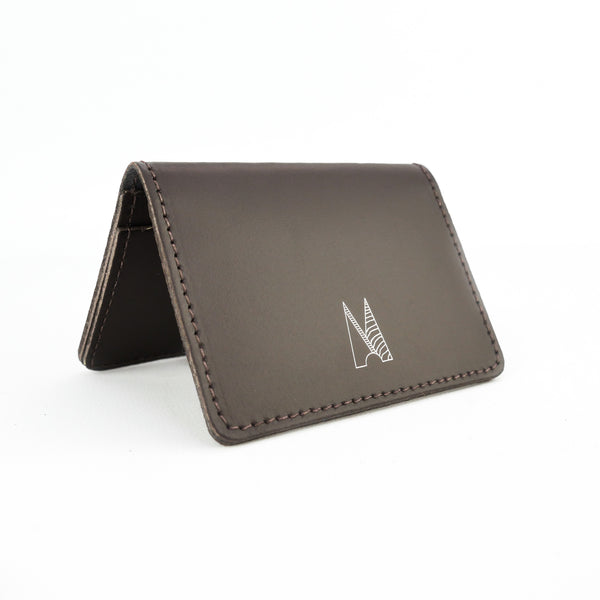 Brown Leather Card Holder - Chroma