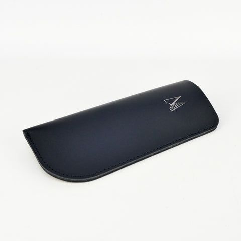 Navy Leather Glasses Case - Chroma