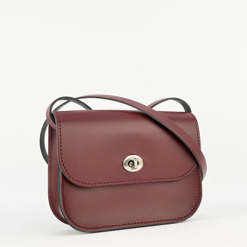 Burgundy Leather Shoulder Bag - Chroma