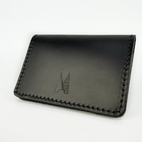 Matte Black Leather Card Holder - Roam