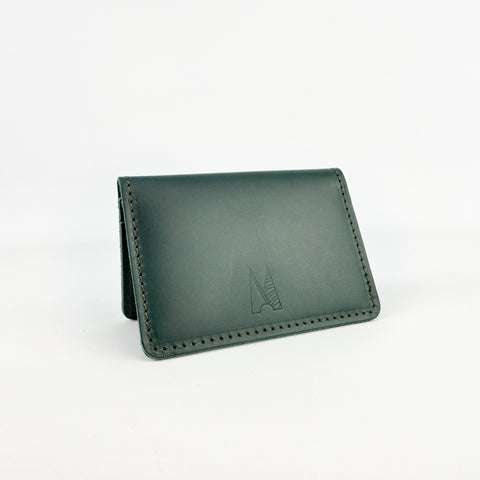 Emerald Green Leather Card Holder - Roam