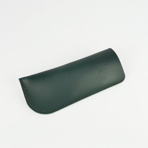 Emerald Green Leather Glasses Case - Roam