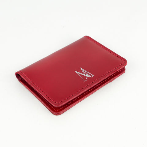 Red Leather Card Holder - Chroma
