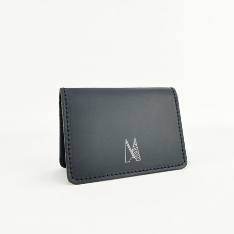 Navy Leather Card Holder - Chroma