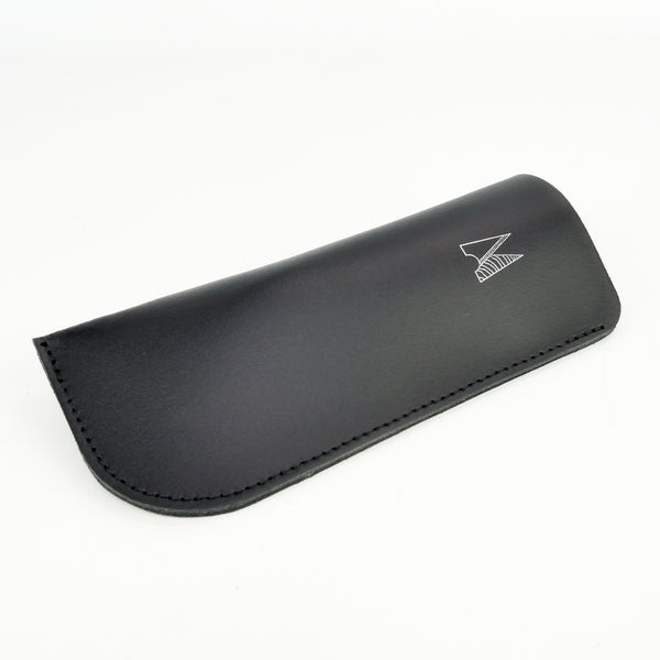 Black Leather Glasses Case - Chroma
