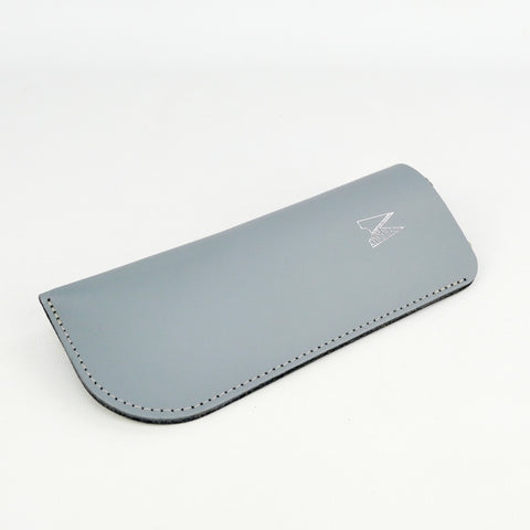 Light Grey Leather Glasses Case - Chroma