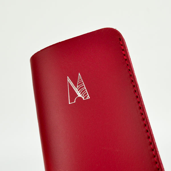 Red Leather Glasses Case - Chroma