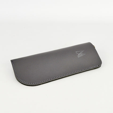 Slate Grey Leather Glasses Case - Chroma