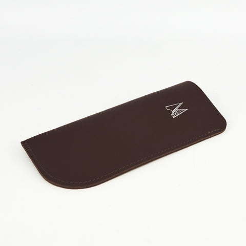 Chocolate Brown Leather Glasses Case - Chroma